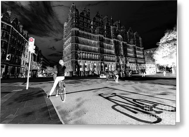 Pushbike Greeting Cards - Inner City Cycling  Greeting Card by Rob Hawkins
