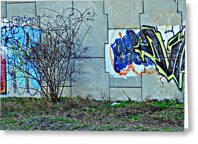 Vandalize Photographs Greeting Cards - Inner City Greeting Card by Frozen in Time Fine Art Photography