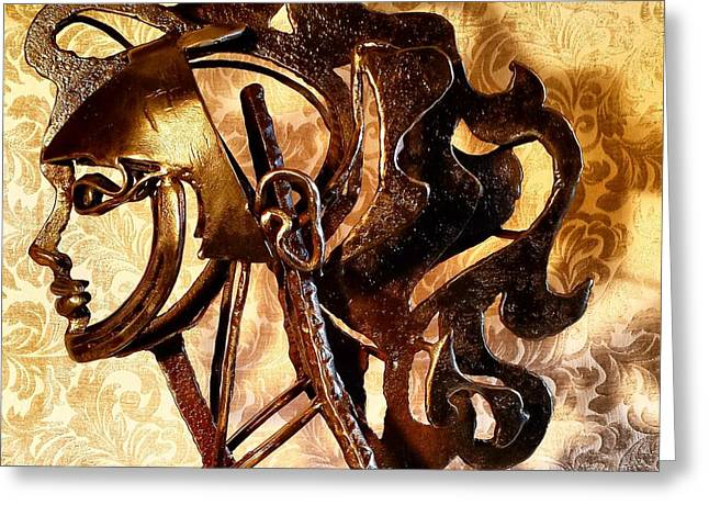 People Sculptures Greeting Cards - Inner Crown Greeting Card by Pierre Riche