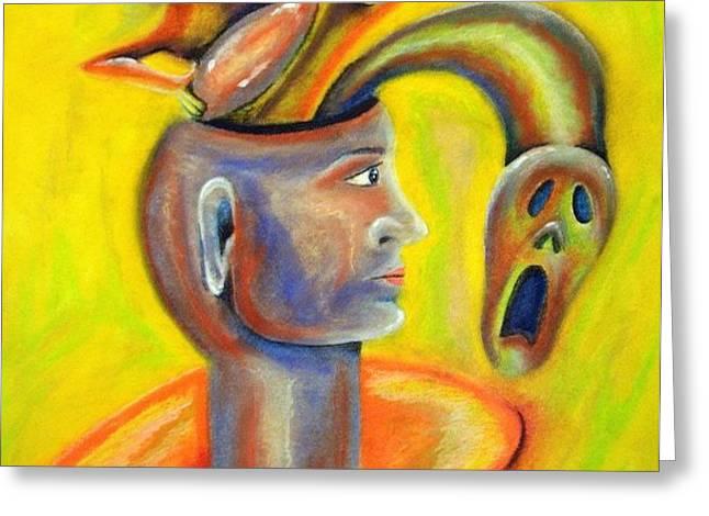 Inner demons Greeting Card by Michael Alvarez