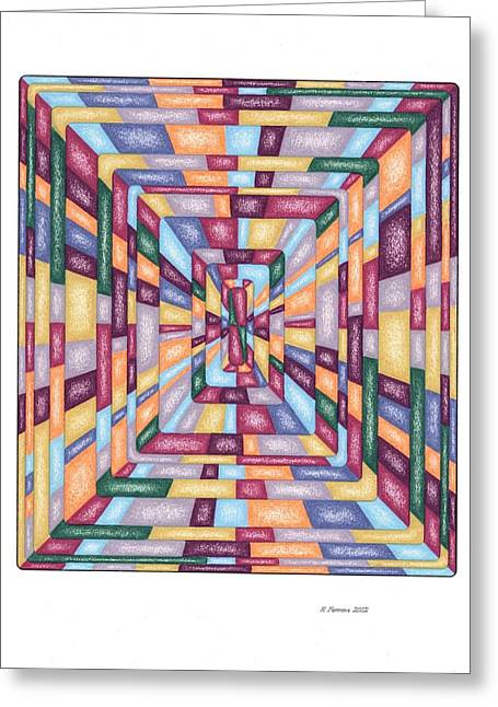 Sacred Drawings Greeting Cards - Inner Depth Template Greeting Card by Ruthie Ferrone