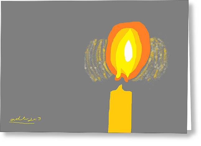 Orthodox Drawings Greeting Cards - Inner Flame Greeting Card by Anita Dale Livaditis