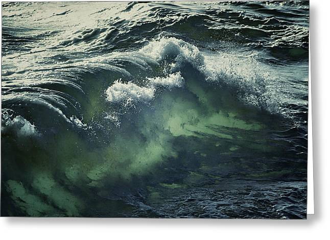 Sea With Waves Greeting Cards - Inner Glow Of Ocean Waves Greeting Card by Anne Macdonald