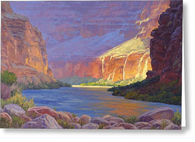 Best Sellers -  - Reflection In Water Greeting Cards - Inner Glow of the Canyon Greeting Card by Cody DeLong