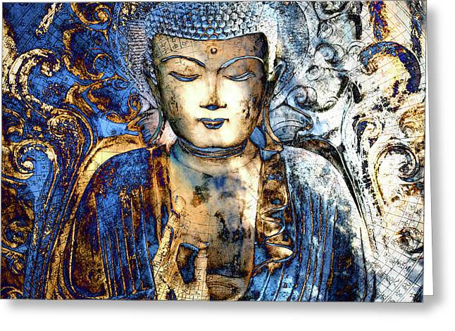 Asian Art Greeting Cards - Inner Guidance Greeting Card by Christopher Beikmann
