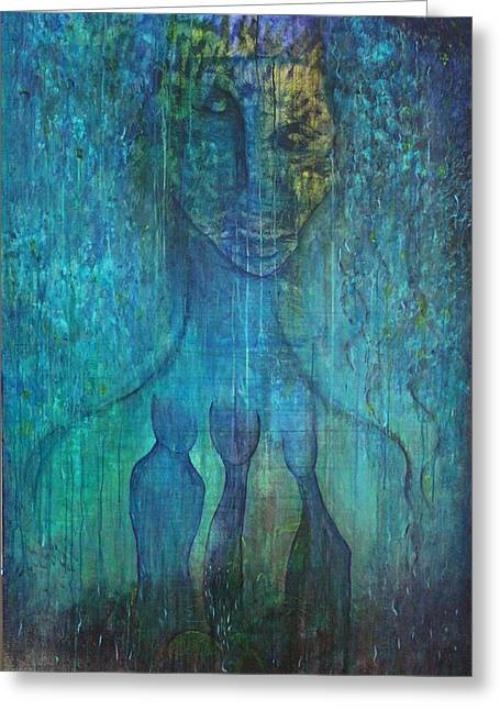 Inner Self Paintings Greeting Cards - Inner Guidance Greeting Card by Indigo Carlton