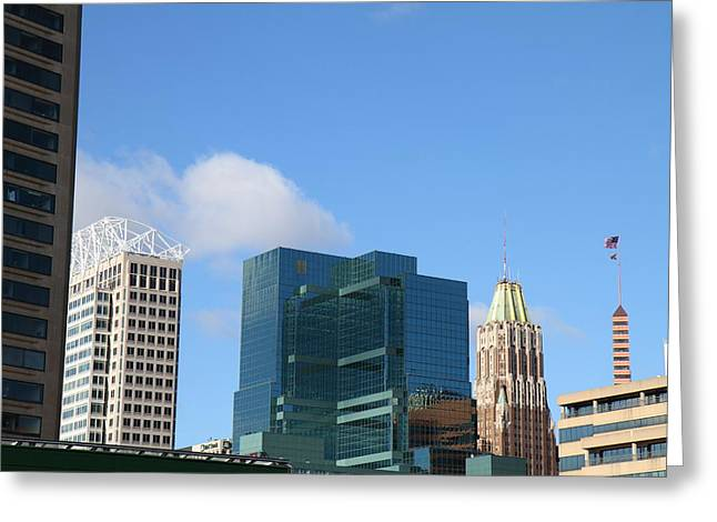 Md Greeting Cards - Inner Harbor at Baltimore MD - 121215 Greeting Card by DC Photographer