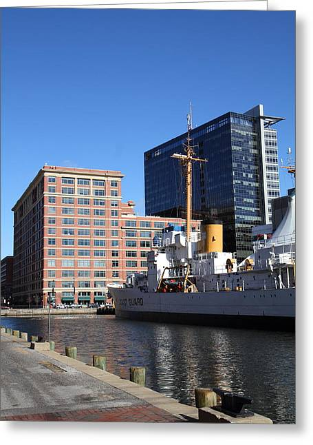 Landmark Greeting Cards - Inner Harbor at Baltimore MD - 121220 Greeting Card by DC Photographer