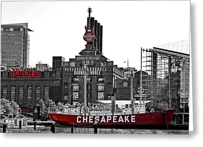 Md Greeting Cards - Inner Harbor Greeting Card by DJ Florek