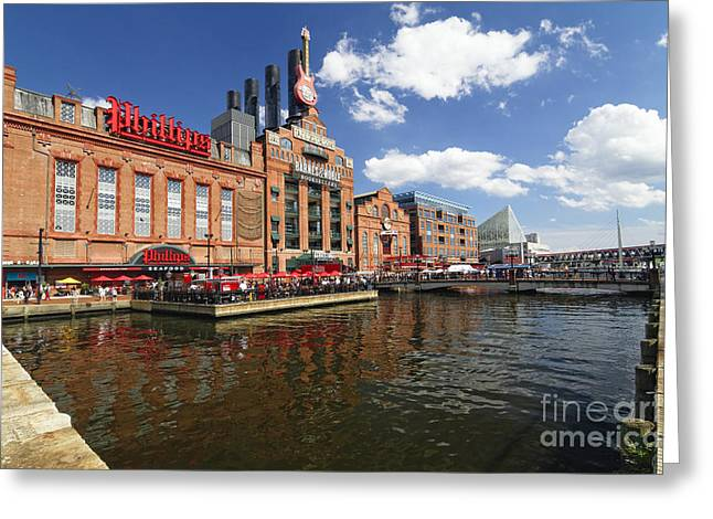 Inner Harbor Revival Greeting Card by George Oze
