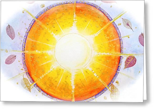 Inner Self Greeting Cards - Inner Light Greeting Card by Moira Rowe