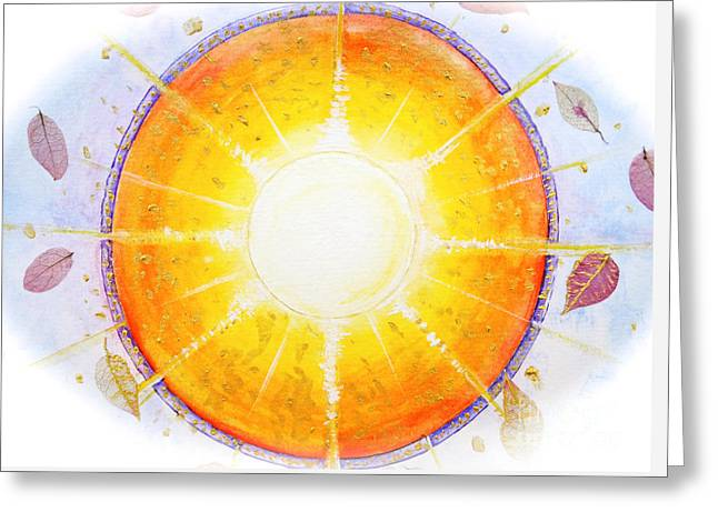 Inner Self Paintings Greeting Cards - Inner Light Greeting Card by Moira Rowe