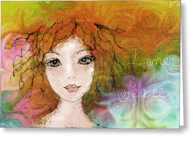 Barbara Orenya Greeting Cards - Inner Peace Greeting Card by Barbara Orenya
