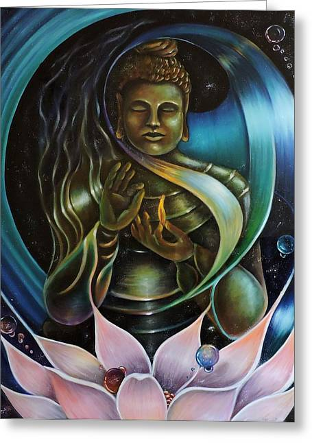 Ying Greeting Cards - Inner Peace Greeting Card by Jessica  Venzor