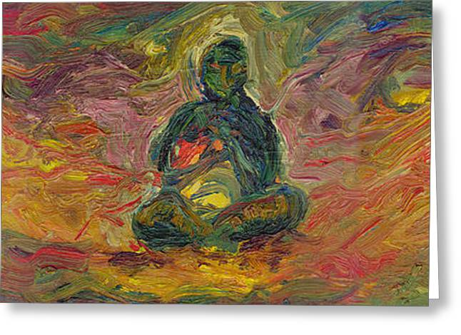 Inner Peace Greeting Cards - Inner Peace Greeting Card by Robert Paulson