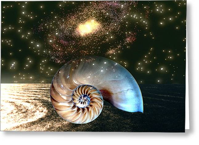 Macrocosm Digital Greeting Cards - Inner Space Outer Space Greeting Card by Lisa Yount