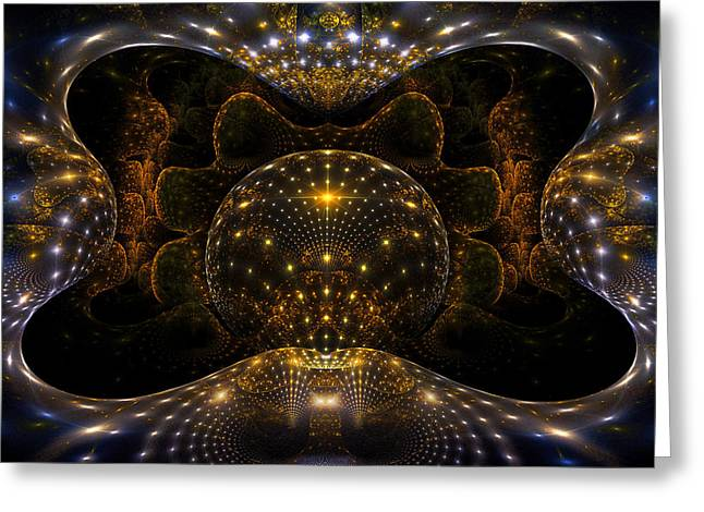 Phil Clark Greeting Cards - Inner Space Greeting Card by Phil Clark
