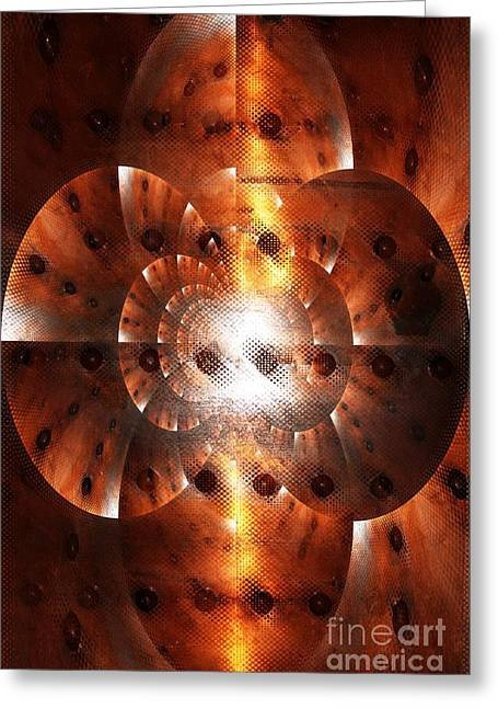 Light Within Greeting Cards - Inner Strength - Abstract Art Greeting Card by Carol Groenen