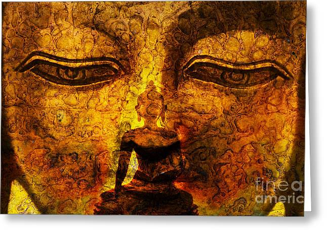 Meditate Greeting Cards - Inner Strength  Greeting Card by Tim Gainey
