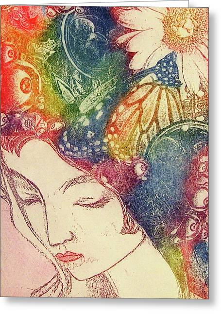 Inner Thoughts Greeting Card by Juliann Sweet