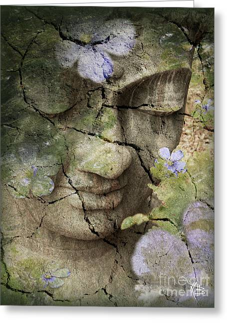 Spa Greeting Card featuring the mixed media Inner Tranquility by Christopher Beikmann