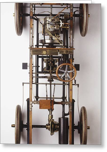 Mechanism Greeting Cards - Inner Workings Of 1904 Automobile Greeting Card by Clive Streeter / Dorling Kindersley / Science Museum, London