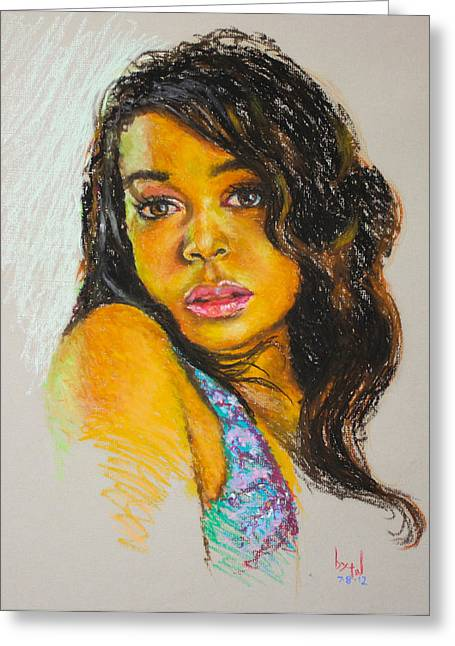 Movie Pastels Greeting Cards - Innocence Greeting Card by Anthony  Baxton