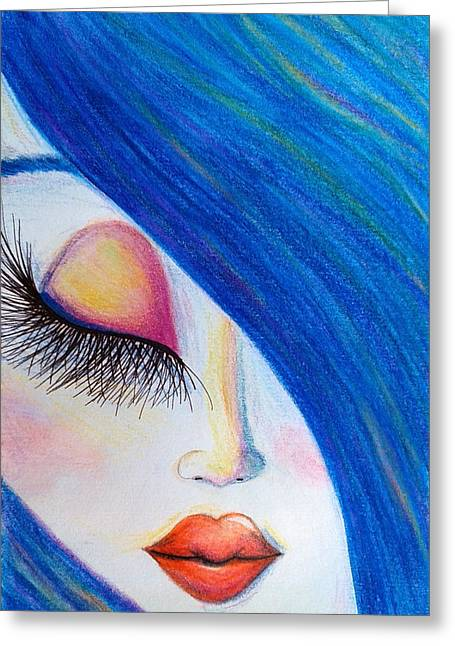 Mix Medium Paintings Greeting Cards - Innocence Greeting Card by Beril Sirmacek
