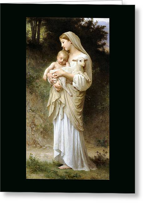 Old Masters Greeting Cards - innocence Duvet Greeting Card by William Bouguereau