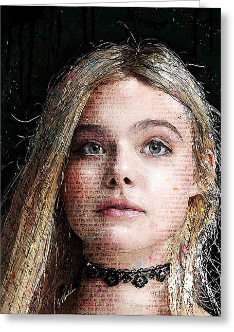 Girl Face Greeting Cards - Innocence Greeting Card by Gary Bodnar