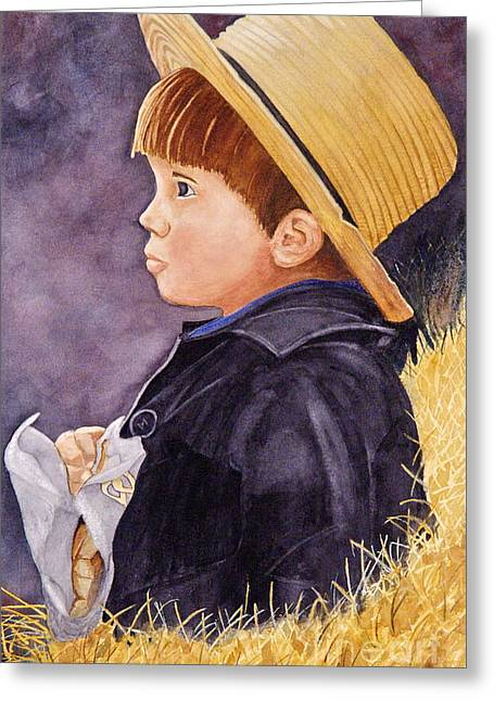 Innocence Paintings Greeting Cards - Innocence Greeting Card by John W Walker