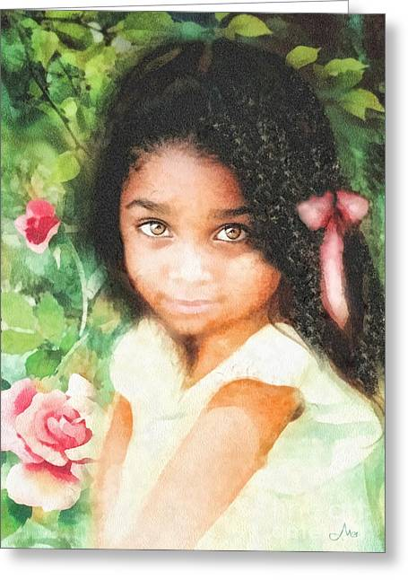 Innocence Greeting Cards - Innocence Greeting Card by Mo T