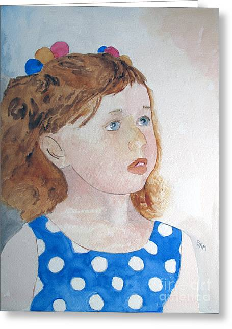 Jeunes Filles Greeting Cards - Innocence Greeting Card by Sandy McIntire
