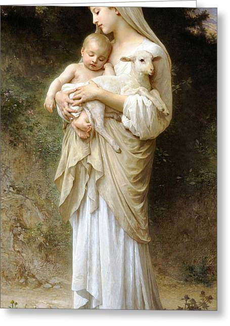 Old Masters Digital Art Greeting Cards - Innocence Greeting Card by William Bouguereau