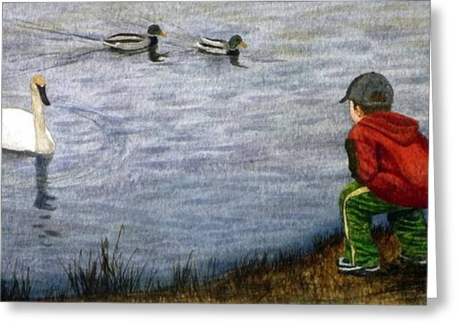 Nature Study Greeting Cards - Innocent Curiosity Greeting Card by Gigi Dequanne