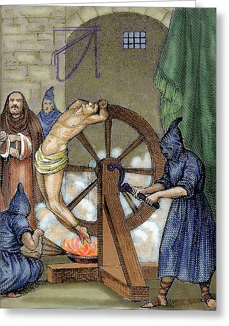 Inquisition Instrument Of Torture Greeting Card by Prisma Archivo