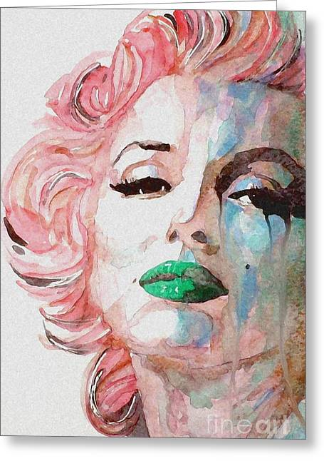 Marilyn Greeting Cards - Insecure  Flawed  but Beautiful Greeting Card by Paul Lovering