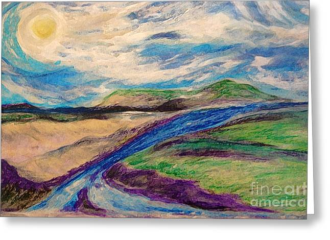 Surreal Landscape Pastels Greeting Cards - Inseparable by jrr Greeting Card by First Star Art