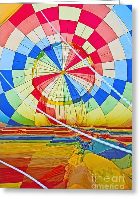 Field. Cloud Greeting Cards - Inside a Rainbow Greeting Card by Jim Chamberlain