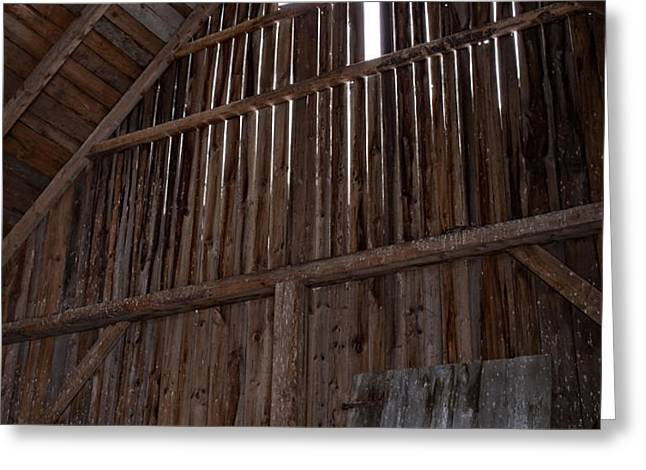 Inside an old barn Greeting Card by Edward Fielding