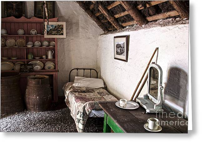 Thatch Greeting Cards - Inside an old thatched cottage Greeting Card by RicardMN Photography