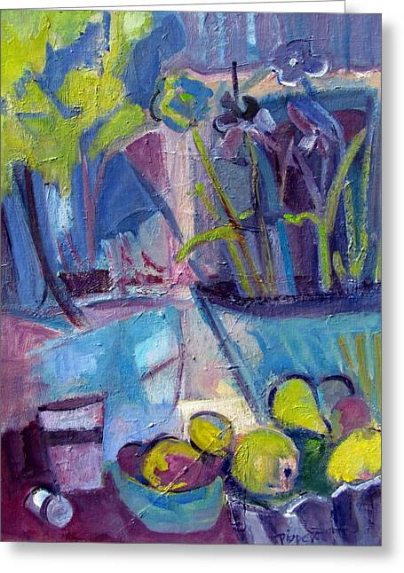 Pill Paintings Greeting Cards - Inside and Outside Abstract Expressionism Greeting Card by Betty Pieper