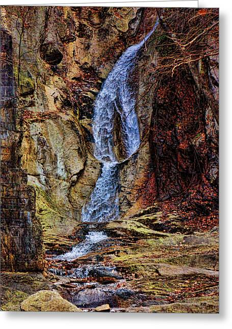 Buttermilk Falls Greeting Cards - Inside Buttermilk Falls Greeting Card by Pamela Phelps