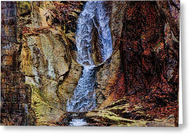 Inside Buttermilk Falls Greeting Card by Pamela Phelps