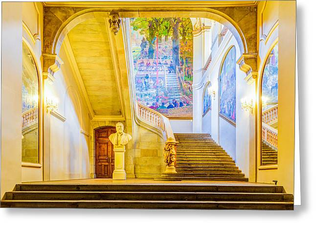 Historic Statue Greeting Cards - Inside Capitole de Toulouse Greeting Card by Semmick Photo