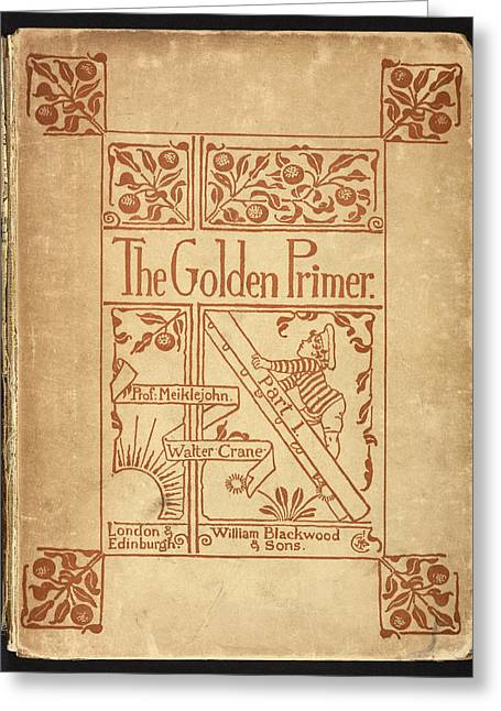 Inside Cover Of 'the Golden Primer' Greeting Card by British Library