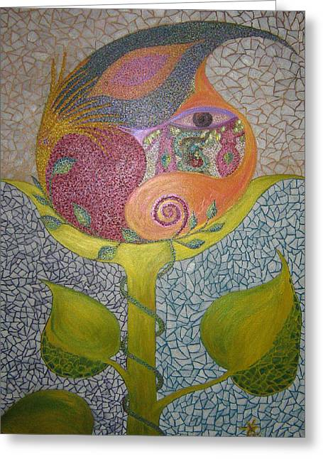 Pointillisme Greeting Cards - Inside Eden Greeting Card by Hanneke Jonkman
