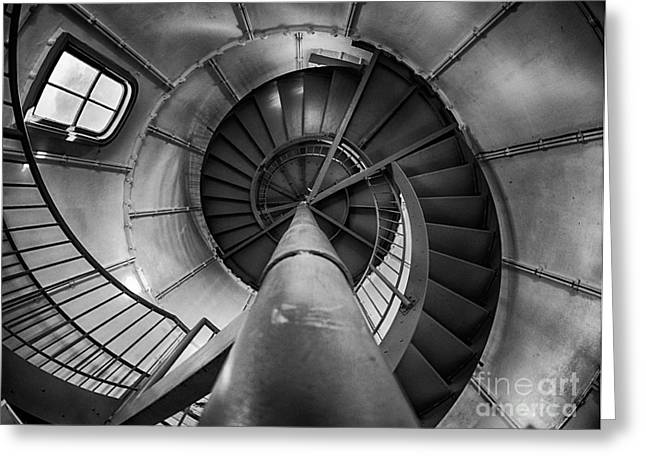 Vineyard Haven Greeting Cards - Inside Edgartown Lighthouse 1 Greeting Card by Mark Miller