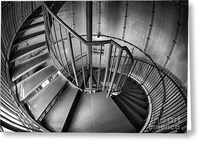 Vineyard Haven Greeting Cards - Inside Edgartown Lighthouse 2 Greeting Card by Mark Miller