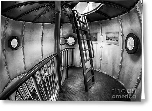 Vineyard Haven Greeting Cards - Inside Edgartown Lighthouse 4 Greeting Card by Mark Miller